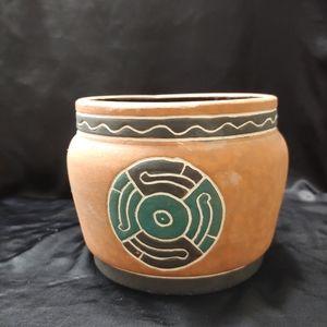 Handmade Mexican ceramic pot